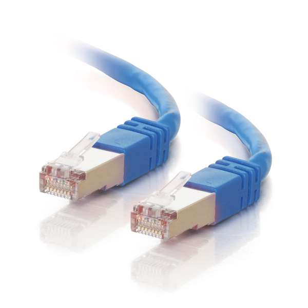 C2G 28707 100ft Cat5e Molded Shielded Ethernet Network Cable - Blue