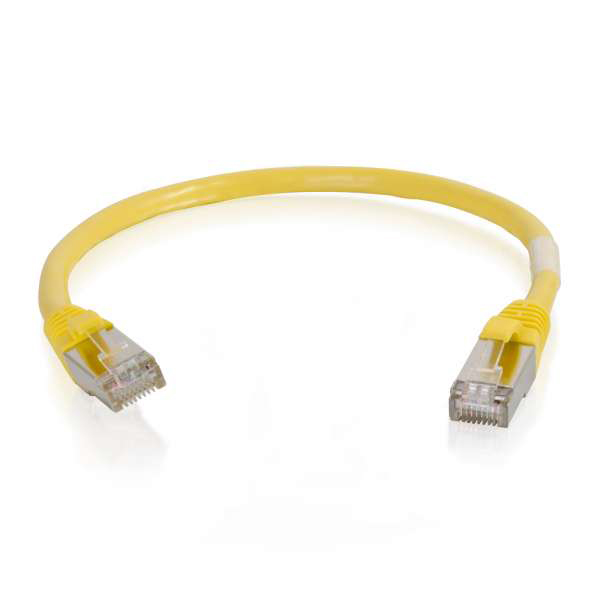 C2G 28709 100ft Cat5e Molded Shielded Ethernet Network Cable - Yellow