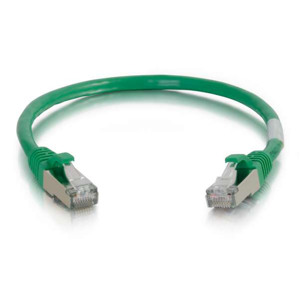 C2G 28710 100ft Cat5e Molded Shielded Ethernet Network Cable - Green