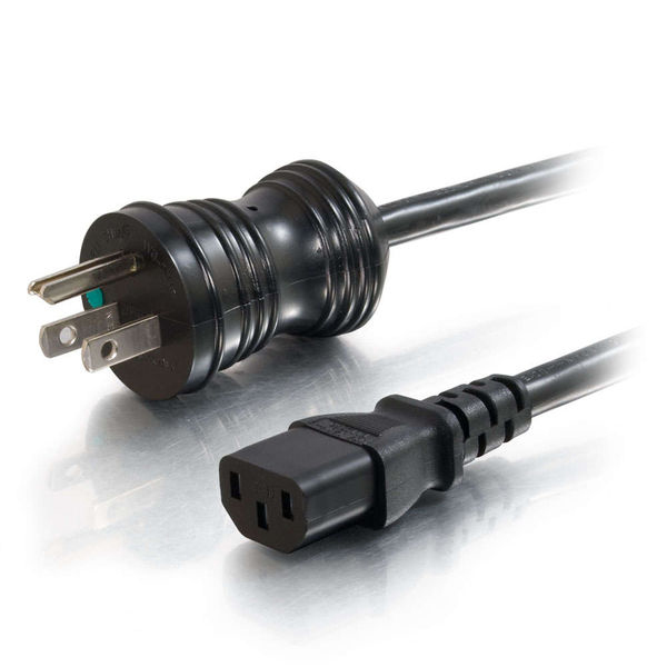 C2G 10ft 18 AWG Hospital Grade Power Cord - Black