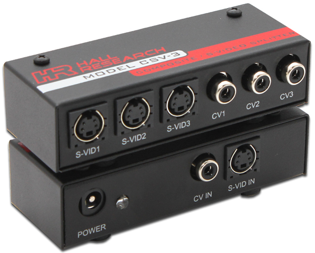 Hall Research CSV-3 1x3 S-Video/Composite Video Splitter