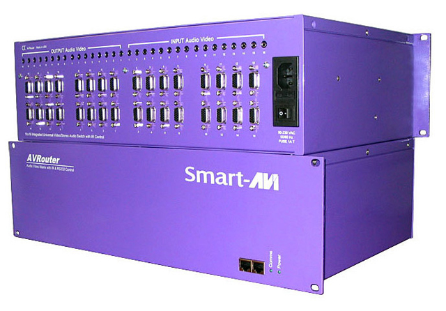 SmartAVI CSWP16X16S CAT5 Audio/Video/IR & R232 16x16 Matrix, RS-232 Control