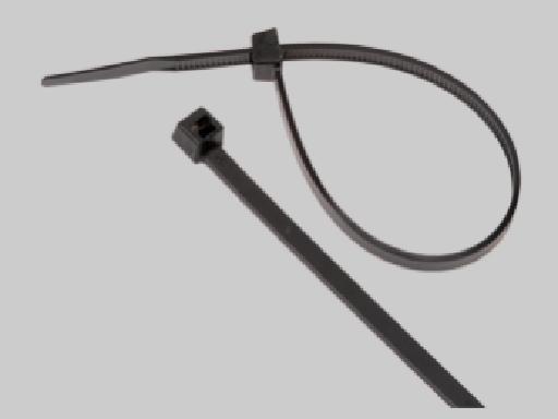 6 inch 18LB UV Cable Tie, Black