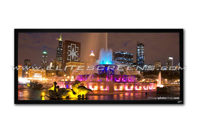 Elite ZR115WH1-Wide Cinemascope Format Fixed Frame Screen 115 in Wide
