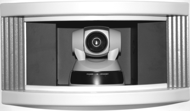 In-wall Camera Enclosure for Sony EVI-D100 PTZ Cameras, White