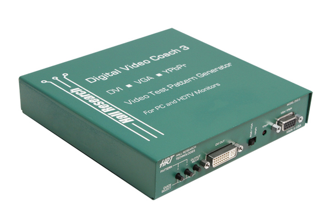 Hall Research DVC-3 DVI/VGA/YPbPr Video Test Pattern Generator