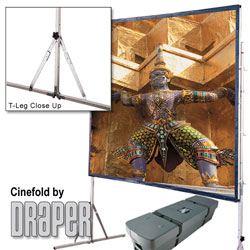 Draper 218109 Cinefold Portable Screen w/ Heavy Duty Legs16ft 8in