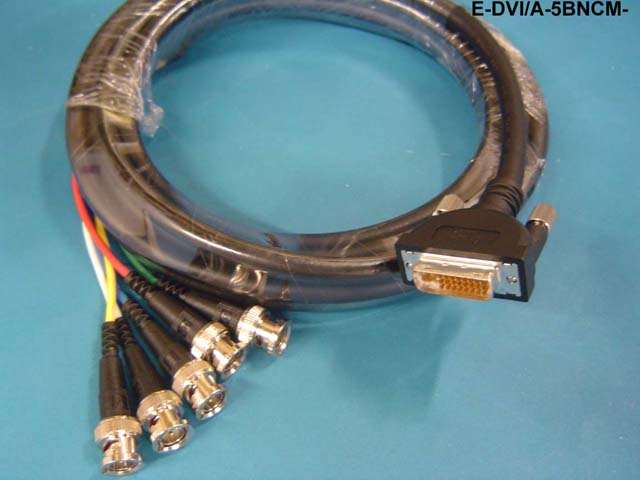 Liberty E-DVI/A-5BNCM-15 Molded DVI/A 5 BNC M 15' (Black)