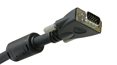 Liberty E-VGAM-M-25 25ft Molded VGA Male to Male, Black