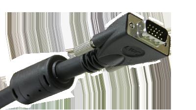 Liberty E-VGAM-M-35 35ft Molded VGA Male to Male, Black