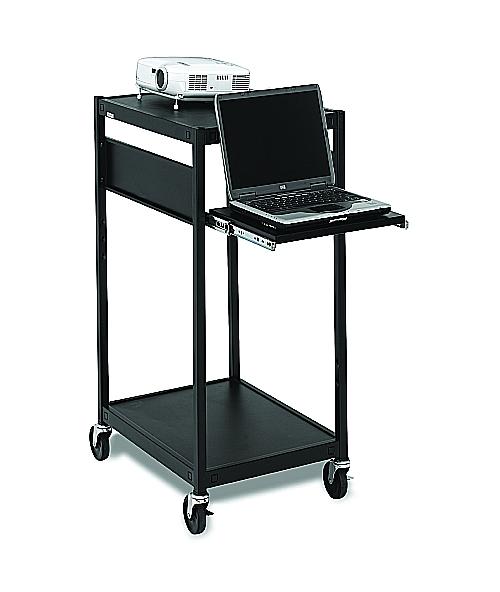 Bretford ECILS2-BK Multimedia Cart, Compact, 4in. Caster, Black