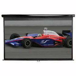 Elite 84in. Manual Series Projector Screen 41x73in w/ 30in. Drop & Black Case