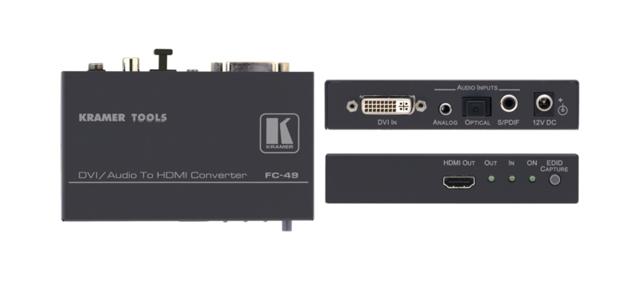DVI & Audio to HDMI Format Converter & Audio Embedder