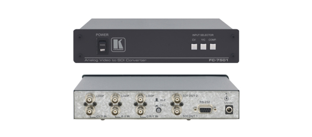 Kramer FC-7501 MultiStandard Composite/S-Video/Component to SDI Converter