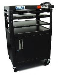 Buhl Height Adjustable AV Media Cart with Cabinet