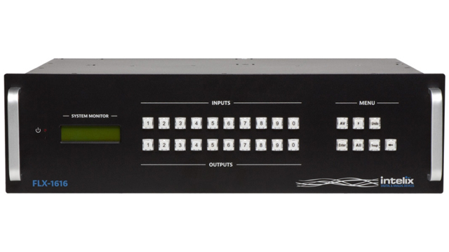 Liberty FLX-1616 Flexible Card-Based Matrix Switcher - 16 Inputx16 Output