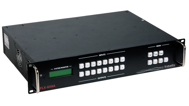 8x8 Card-based HDMI, DVI, and Analog Audio/Video Matrix