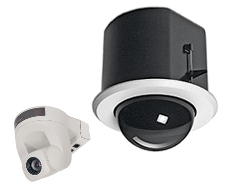 Vaddio 999-9000-070 Flush Mount Dome Enclosure & Sony EVI-D70 PTZ Camera