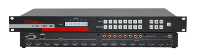 Hall HSM-I-08-08 8x8 HDMI Matrix Switch, RS232 & IP Control