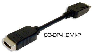 Hall GC-DP-HDMI-P DisplayPort Male to HDMI Female Adapter Pigtail Cable