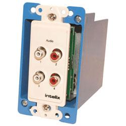 Intelix AVO-A4-WP-F Dual Stereo Wallplate Balun