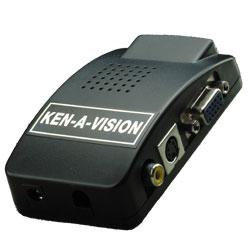 Ken-A-Vision V-VGACON Composite/S-Video to VGA Converter