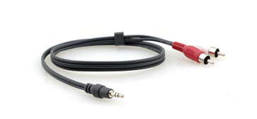 Kramer C-A35M/2RAM-25 3.5mm to 2 RCA Breakout Cable 25 ft