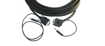 Kramer 25ft 15-pin HD & 3.5mm Audio Cable w/ a 45° Side-Angled Connector