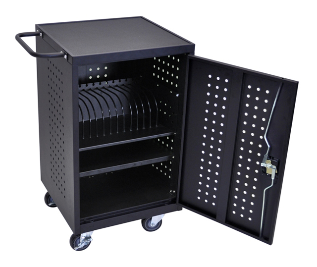 Luxor LLTM16-B Mobile Tablet Charging and Storage Station
