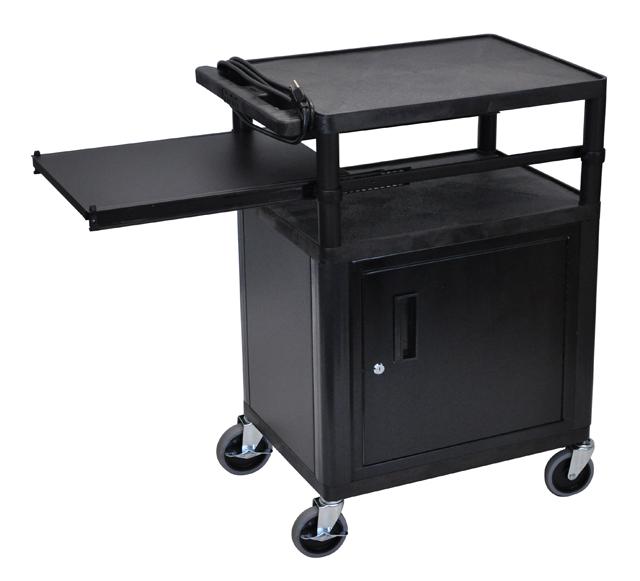 Luxor LP34CPE-B Presentation Cart (Black)