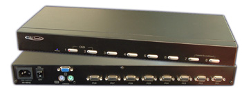 Hall Research MC1208 8-channel KVM switch with OSD