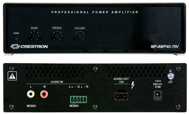 Crestron Media Presentation Audio Amplifier, 70 Volt