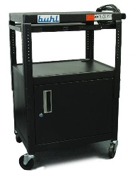 Buhl MPPS4226E-5 Adjustable Media Cart, Security Cabinet