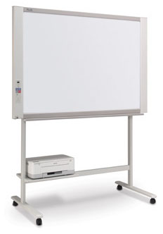 4-Panel Electronic Copyboard with Network Function, 50 x 35 Inch Writing Area