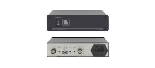 Kramer OC-1N 1-Channel Video/Sync Optical Isolator