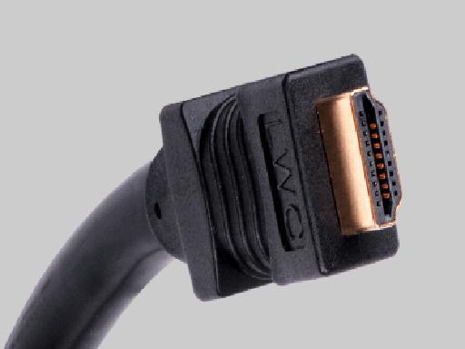 12M, Plenum HDMI Male to Male Interconnect Cable, Black