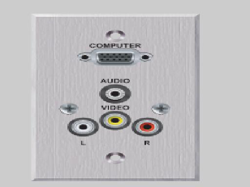 EDULINX PC-EZ1000-E-T-C Modular Faceplate with Turret Connection