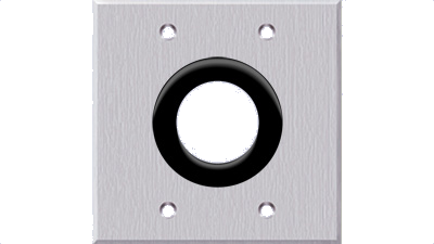 Double Gang Faceplate with 1.5-in Grommet,No Labeling