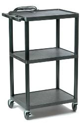 Hamilton Buhl Polyethylene A/V Cart w/ Adjustable Height (16, 26, 34, & 42in)