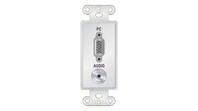 Liberty Decor-Style VGA F/F & 3.5mm Stereo Pass-Thru Insert, White Faceplate