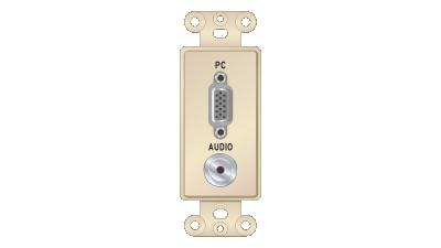 Liberty Decor-Style VGA F/F & 3.5mm Stereo Solder Insert, Ivory Faceplate