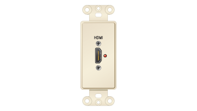 Décor Insert with HDMI Passthru Labeled in.HDMIin., Almond Faceplate