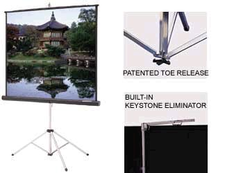 Picture King Portable Tripod Front Projector Screen (100in. diag) 4:3