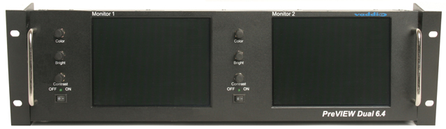 Dual 6.4-inch LCD Rack Mount Monitor