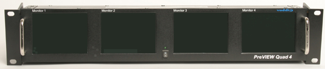 Quad 4-inch LCD Rack Mount Monitor