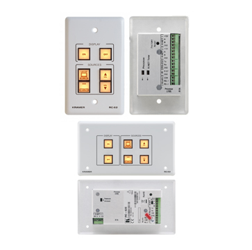 6-Button Room Controller with IR Learning & Printed Group Labels
