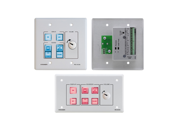 6-Button Room Controller with Analog Volume Knob & Printed Group Labels