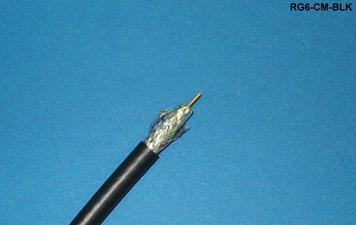Liberty RG6-CM-BLK CATV/MATV/DBS Coaxial Cable, Black