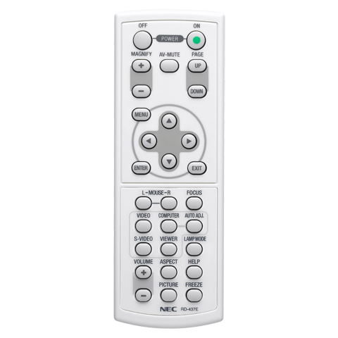 NEC RMT-PJ28 Replacement Remote Control for NP41/NP61/NP62 Projectors