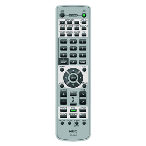 NEC RMT-PJ33 Replacement Remote Control for NP-PA500U and NP-PA550W Projector